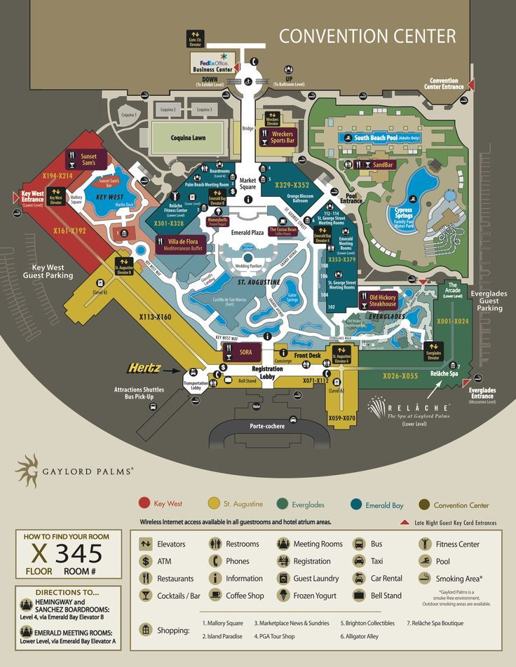 gaylord_palms_location_map
