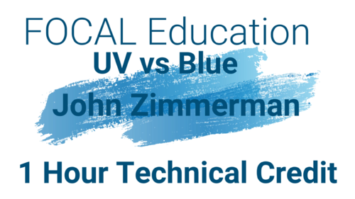 Home Study Virtual Conference UV vs Blue 1 Hr. Technical CE